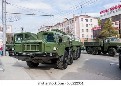 Perm, Russia - May 09.2016:  Exhibition of the military technics, devoted to a holiday of Day of the Victory