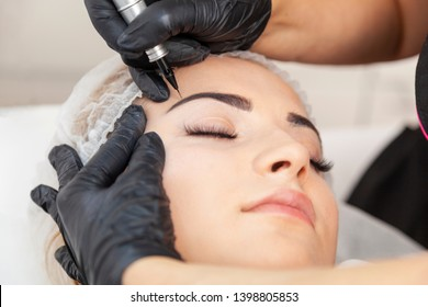 Permanent makeup - treatment in a beauty salon
