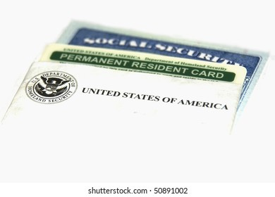 Permanent resident and social security cards