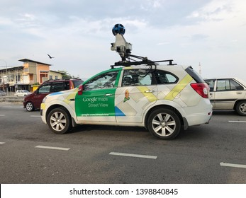 Permatang Pauh Penang,Malaysia - Mac 29,2019 : Google maps car on view in Permatang Pauh city.Google maps is web mapping service developed by google.It offers satellite imagery & aerial photography.