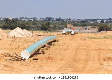 Permian basin pipeline construction