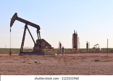 Permian Basin pump jacks and heater-treater