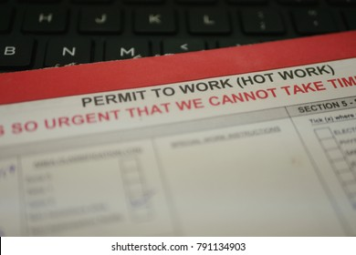 A permit to work system for hot work activities.