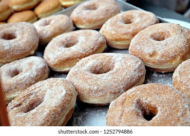 perpective view of donuts