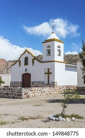 Perpetuo Socorro Church in Payogastilla along famous Route 40 in its section through the northern province of Salta, Argentina.