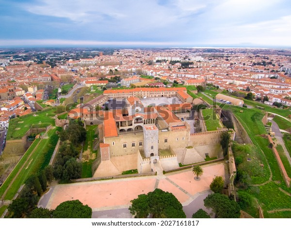 Perpignan. Aerial view of  city. France. Europe