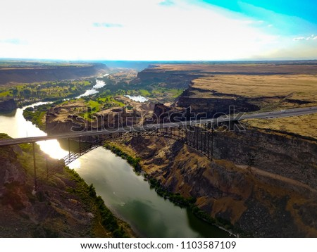 Perrine Bridge Twin Falls Idaho Stock Photo Edit Now 1103587109