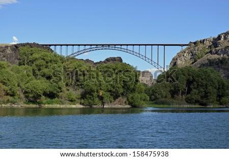 Perrine Bridge Twin Falls Idaho Usa Stock Photo Edit Now 158475938