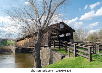 Perrine's Bridge is the second oldest covered bridge in the State of New York. This Burr Arch Truss Bridge crosses the Wallkill River in the Town of Esopus-Rosendale near Rifton, NY.
