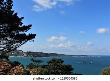 Perros Guirec landscape on Pink Granite Coast, Brittany, France