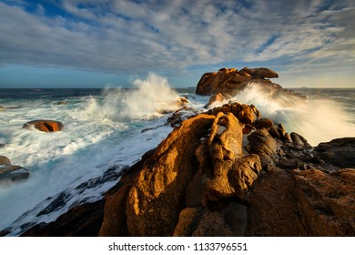Perros-Guirec, Ploumanach, beautiful rocks of Brittany, France