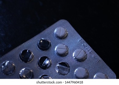 Perscription drugs under blue light