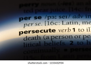persecute word in a dictionary. persecute concept.