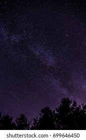 Perseid and the Milky Way in central Poland