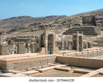 Persepolis, ancient capital of the Persian Empire located next to Shiraz, Iran.