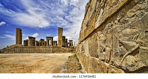 Persepolis, the ancient Persian civilization symbol of glory (Takhte Jamshīd) was the ceremonial capital of the Achaemenid Empire and one of the world's greatest archaeological sites, Shiraz, Iran.