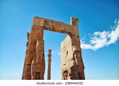 Persepolis is ancient ruins of The Achaemenid Empire or the First Persian Empire  situated northeast of  Shiraz , Iran