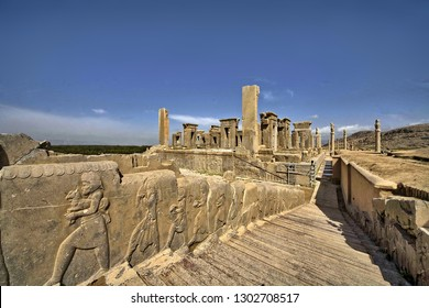 Persepolis was the ceremonial capital of the Achaemenid Empire. It is situated 60 km northeast of the city of Shiraz in Fars Province, Iran.
