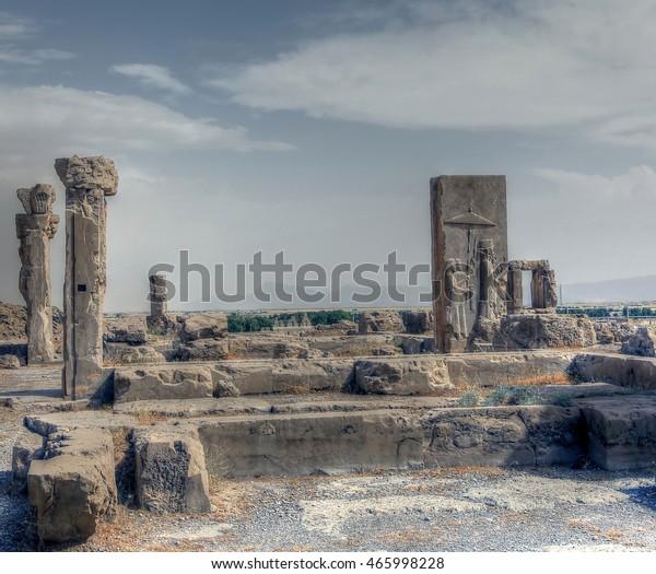 Persepolis Iran 03062014 Rock Relief Xerxes Stock Photo Edit Now 465998228