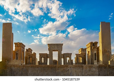 PERSEPOLIS SHIRAZ IRAN Famous colums of the ancient city of persepolis ( the capital of Achaemenid Empire ) in Persepolis in Shiraz in iran