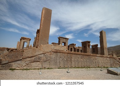 PERSEPOLIS SHIRAZ IRAN Famous colums of the ancient city of persepolis ( the capital of Achaemenid Empire ) in Persepolis in Shiraz  in Shiraz , Iran. one of world heritage site ,UNESCO