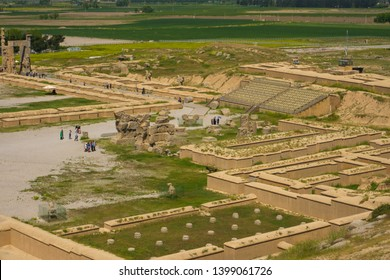 Persepolis, Shiraz/iran- April 29, 2019: Persepolis an ancient capital of the kings of the Achaemenian dynasty of Iran, located about 50 km northeast of Shiraz and UNESCO site, welcoming tourists