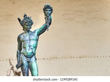 """Perseus with the Head of Medusa"" is a bronze sculpture made by Benvenuto Cellini in Florence in Italy"