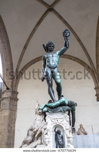 Perseus Head Medusa Bronze Sculpture Made Stock Photo Edit