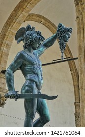 Perseus and Medusa head , sculpture ,statue,florance travel,italy