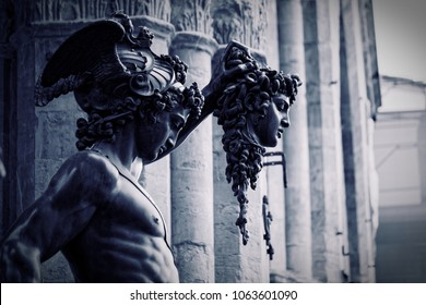 Perseus and Medusa statue in Firenze, Italia