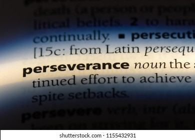 perseverance word in a dictionary. perseverance concept.