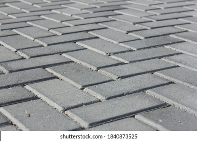 Persfektive arrangement of paving block bricks