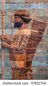 Persian Achaemenid soldier from 500 BC, belonging to ancient Achaemenian Empire which is mostly famous for its king, Cyrus the Great.