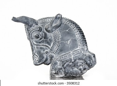 Persian Bull Column Capital