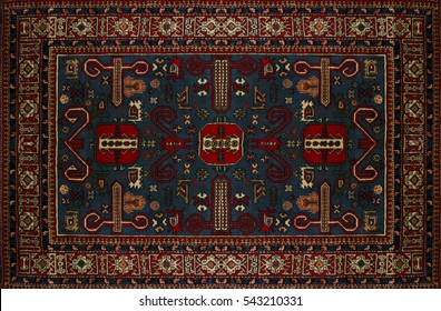 Persian Carpet Texture, abstract ornament. arabic pattern, Middle Eastern Traditional Carpet Fabric Texture. green blue red maroon pink grey Turquoise gold blue brown yellow sepia colored surface