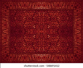 Persian Carpet Texture, abstract ornament. Round mandala pattern, Middle Eastern Traditional Carpet Fabric Texture. Turquoise milky blue grey brown yellow red brown violet pink maroon gold