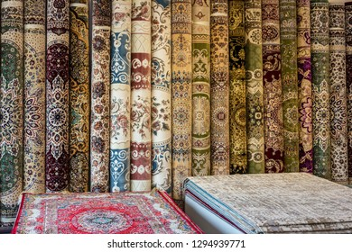 Persian carpets in Dubai, UAE. oriental ornaments