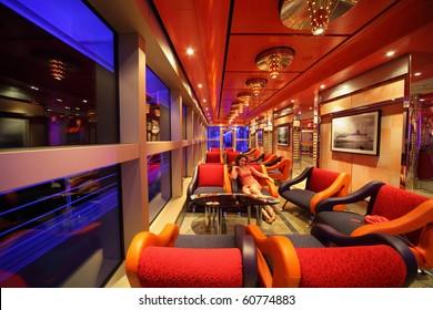 PERSIAN GULF - APRIL 14:interior of Costa Deliziosa - the newest Costa cruise ship, 14 April 2010 in Persian Gulf. Costa Cruises - biggest cruise company in Europe.