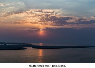 Persian gulf sunset.