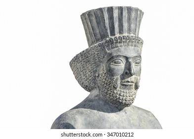Persian soldier with white background