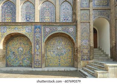 persian tiles pattern, iran
