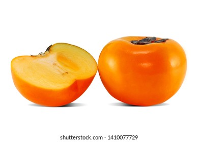 Persimmon fruit isolated on white
