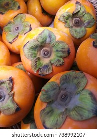 Persimmon fruits on Display in Basket