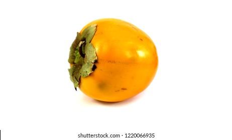 persimmon kaki close up on white background