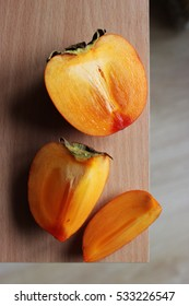 Persimmon. Slices of persimmon.
