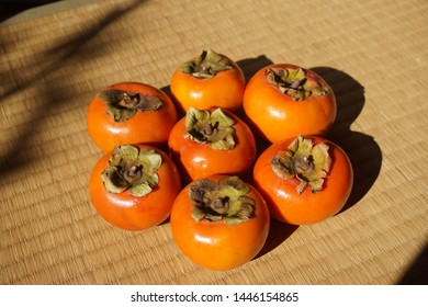 Persimmon which is autumn fruit of Japan