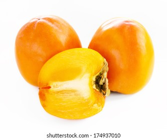 persimmon whole and half