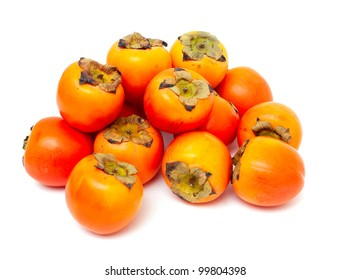 persimmons isolated on white background