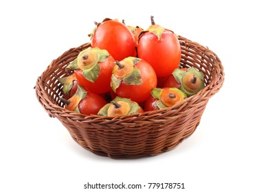 Persimmons on wicked plate