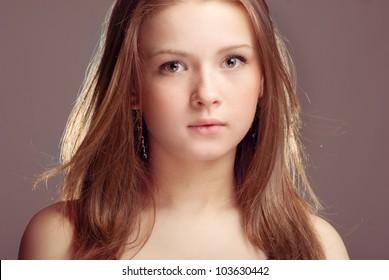 A person beautiful teen girl